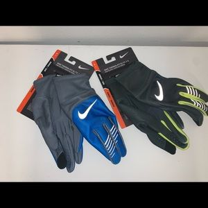 🔐 LOT OF 2 MENS NIKE THERMA-FIT ELITE 2.0 GLOVES
